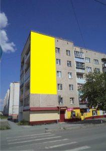 Брандмауэр в Еманжелинске, ул. Гагарина, д. 18